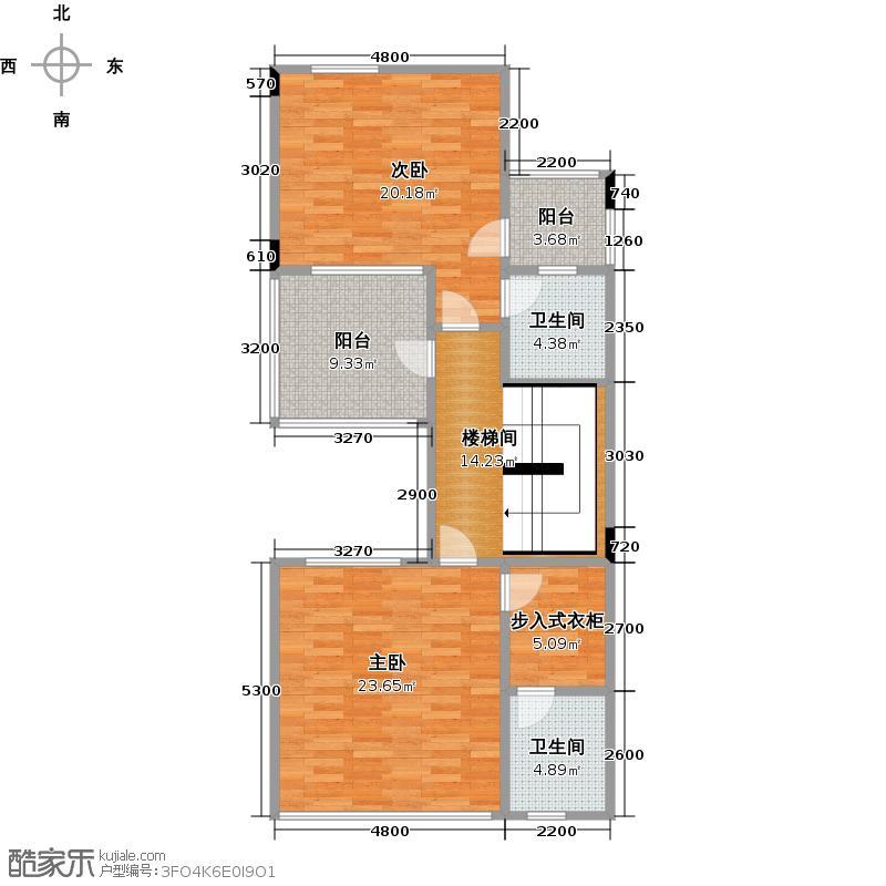 武汉锦绣香江A02二层户型2室2卫