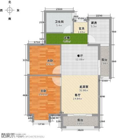 永辉 巴黎2室0厅1卫1厨82.00㎡户型图