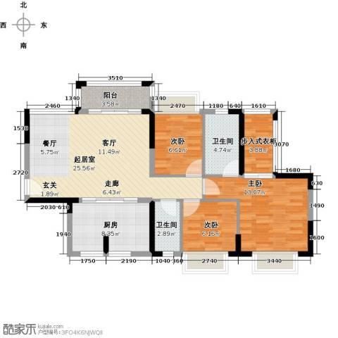 东海岸花园3室0厅2卫1厨109.00㎡户型图
