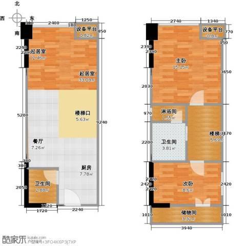 保利新天地2室0厅2卫0厨82.97㎡户型图