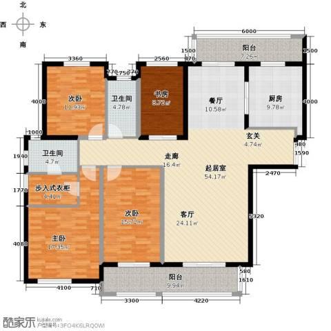 中海御湖公馆二期4室0厅2卫1厨175.00㎡户型图