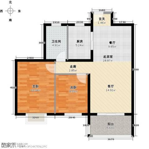 花样年别样城2期2室0厅1卫1厨85.00㎡户型图