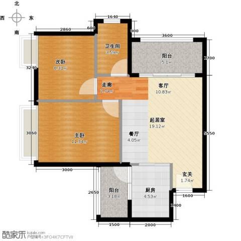 三角科尔玛城2室0厅1卫1厨70.00㎡户型图