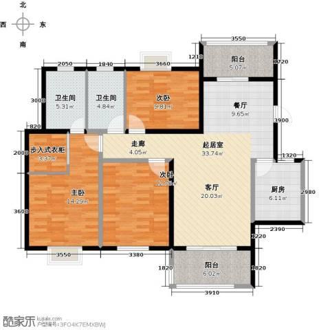 花样年别样城2期3室0厅2卫1厨129.00㎡户型图