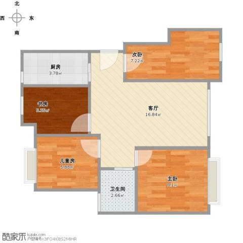 新城昱翠湾4室1厅1卫1厨68.00㎡户型图