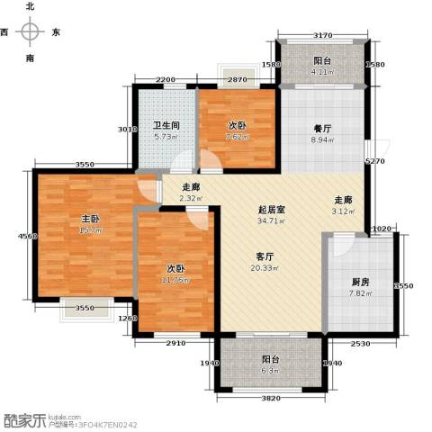 花样年别样城2期3室0厅1卫1厨131.00㎡户型图