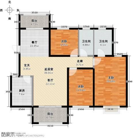 花样年别样城2期3室0厅2卫1厨156.00㎡户型图