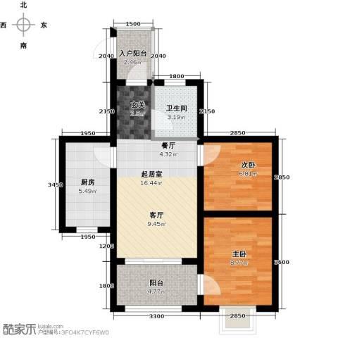 海南东方锦绣蓝湾2室0厅1卫1厨71.00㎡户型图