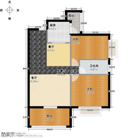 欣荣宏国际商贸城2室1厅1卫1厨91.00㎡户型图