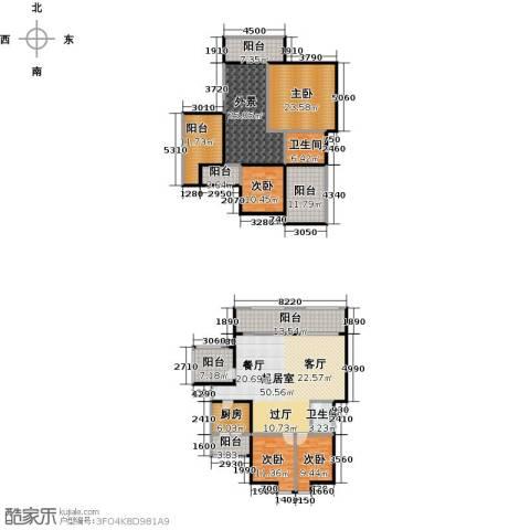 万山国际4室0厅2卫1厨205.17㎡户型图