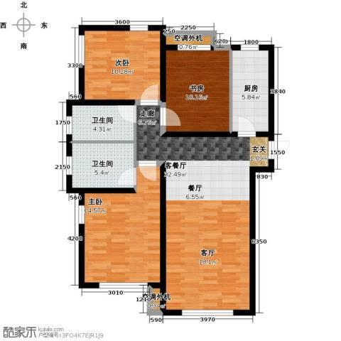 乾瑞・嘉山墅3室1厅2卫1厨119.00㎡户型图