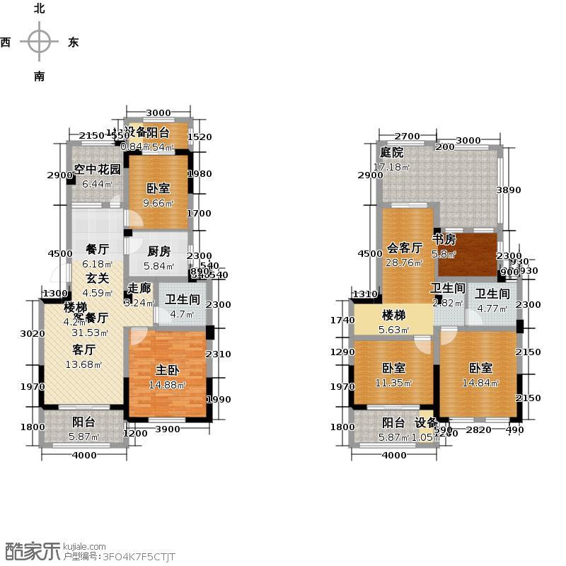 亿嘉・江南水岸户型1室1厅2卫1厨