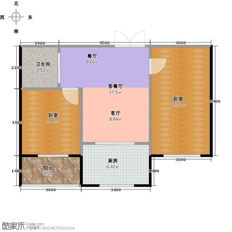 葫芦岛温馨家园户型1厅1卫1厨