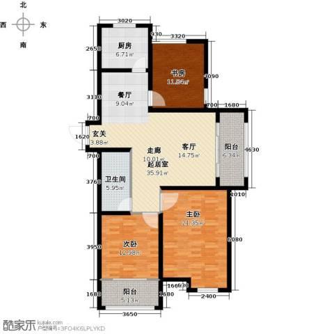 逸城山色公馆3室0厅1卫1厨120.00㎡户型图