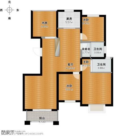 金桥普林斯顿4室1厅2卫1厨147.00㎡户型图