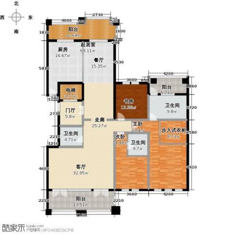 金地佘山天境3室0厅3卫1厨230.00㎡户型图