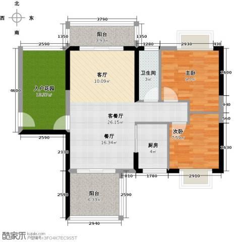 花香四季・雅苑2室1厅1卫1厨81.39㎡户型图