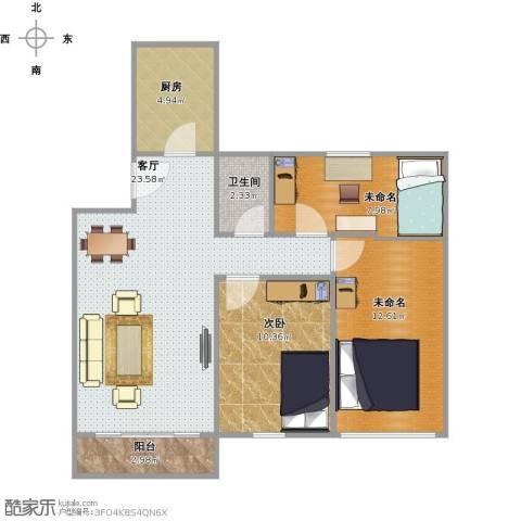 三宝墟教师新村1室1厅1卫1厨88.00㎡户型图