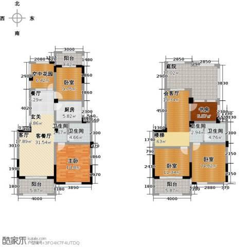 亿嘉・江南水岸2室1厅2卫1厨233.00㎡户型图
