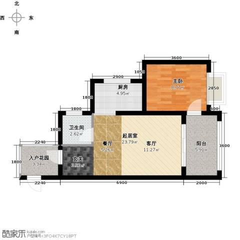 海南东方锦绣蓝湾1室0厅1卫0厨64.00㎡户型图