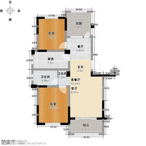 亿嘉・江南水岸1厅1卫1厨122.00㎡户型图
