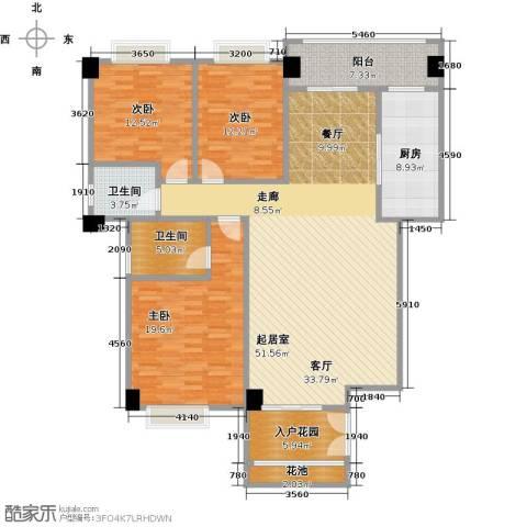 华港财富港湾3室0厅2卫1厨145.00㎡户型图