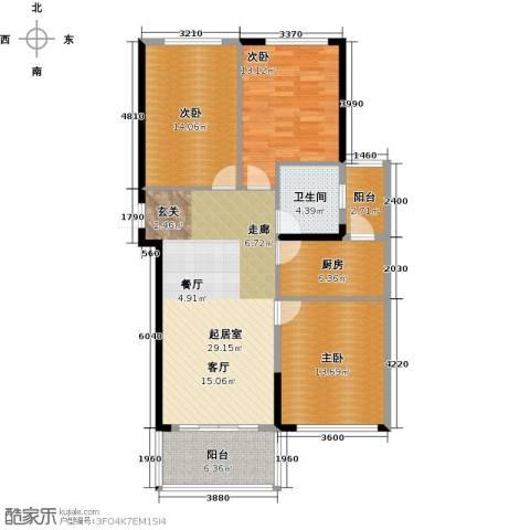 金色港湾3室0厅1卫1厨117.00㎡户型图