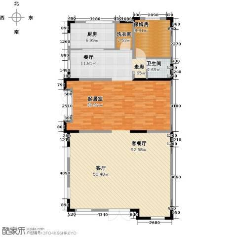 团泊湖光耀城1厅1卫1厨153.00㎡户型图