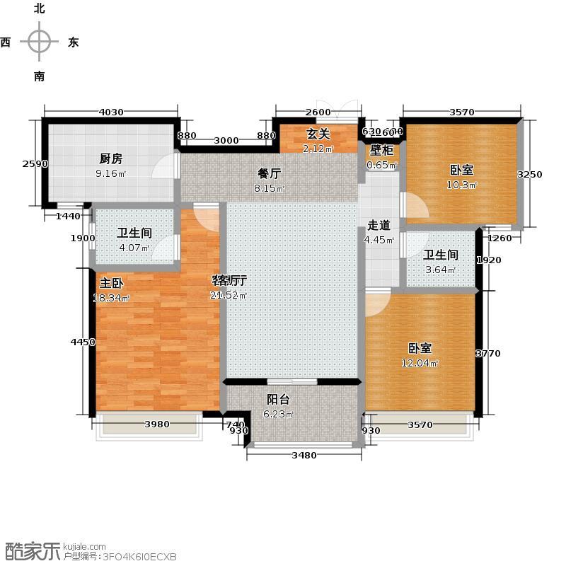 金苑如意广场户型1室1厅2卫1厨