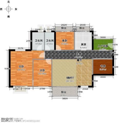 丹梓龙庭4室1厅2卫1厨119.00㎡户型图