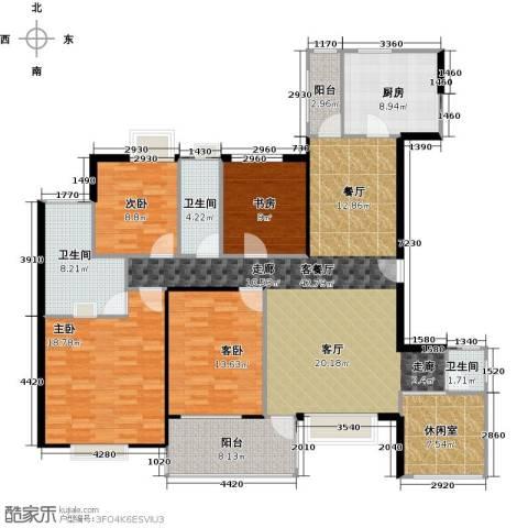 丹梓龙庭4室1厅3卫1厨152.00㎡户型图