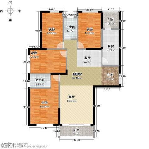 金色港湾4室0厅2卫1厨160.00㎡户型图