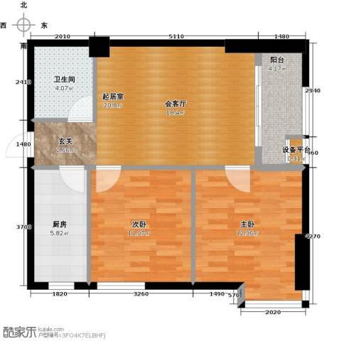 金色港湾2室0厅1卫1厨85.00㎡户型图
