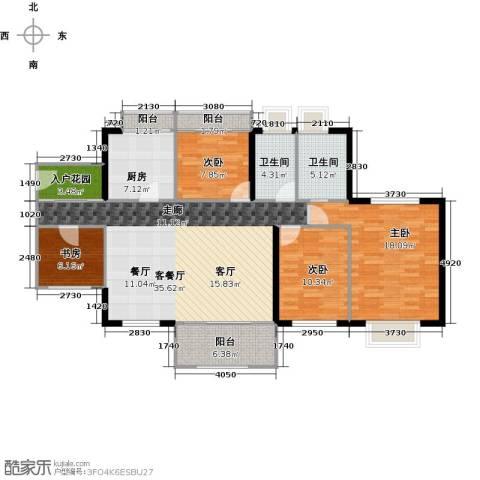 丹梓龙庭4室1厅2卫1厨129.00㎡户型图