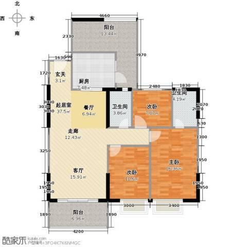 嘉逸园3室0厅2卫1厨127.00㎡户型图