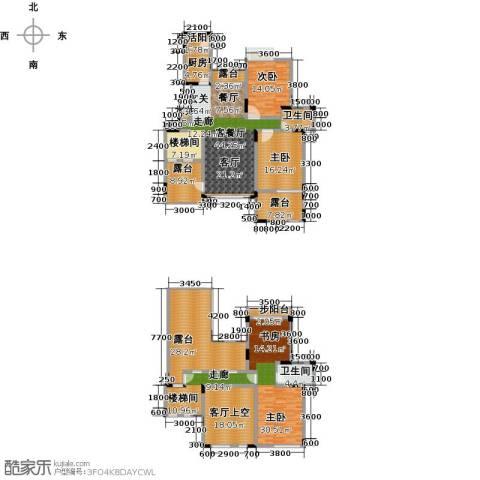 绿地海棠湾3室1厅2卫1厨198.62㎡户型图