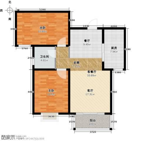 贵都花园综合体2室1厅1卫1厨115.00㎡户型图