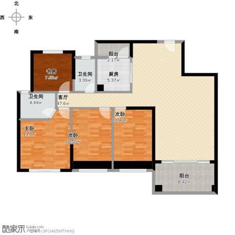 锦绣棕榈园4室1厅2卫1厨113.72㎡户型图