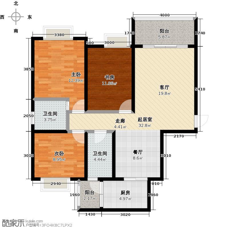 蜀汉大都会D户型3室2厅2卫
