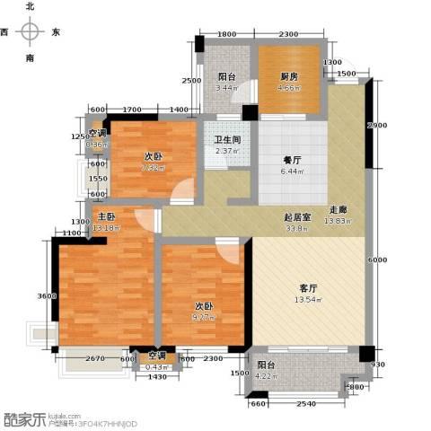 华盛・世纪新城3室0厅1卫1厨107.00㎡户型图
