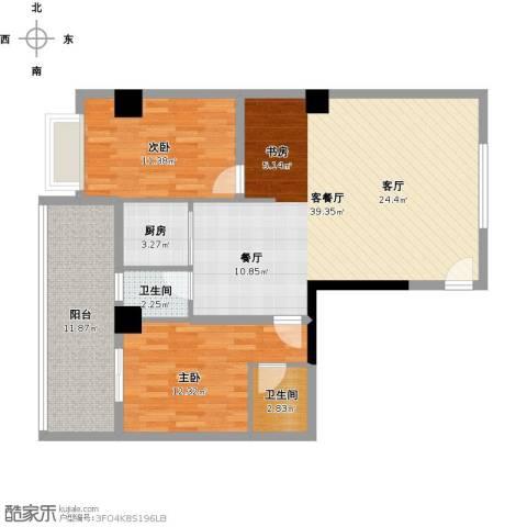 明珠小区2室1厅2卫1厨118.00㎡户型图