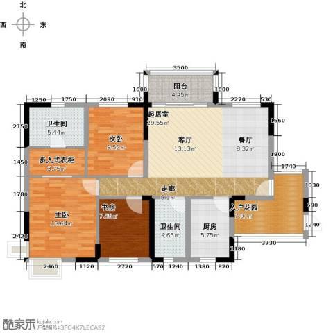广大上城3室0厅2卫1厨116.00㎡户型图