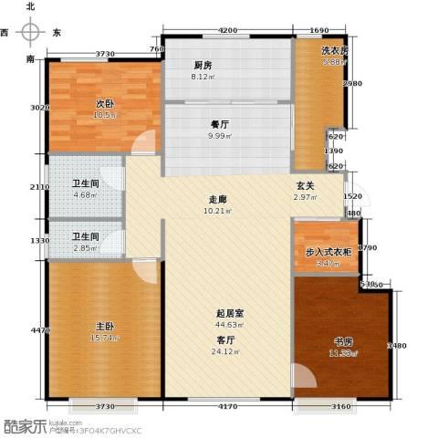 万科金域华府馨苑3室0厅2卫1厨115.00㎡户型图