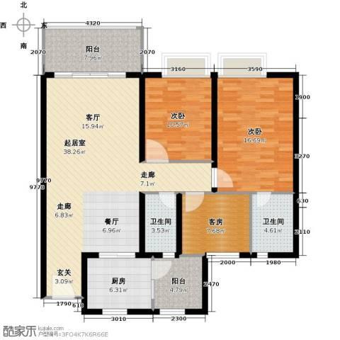 嘉逸园2室0厅2卫1厨114.00㎡户型图