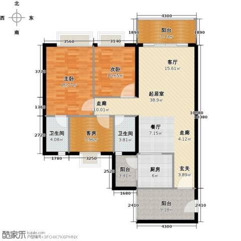 嘉逸园2室0厅2卫1厨120.00㎡户型图
