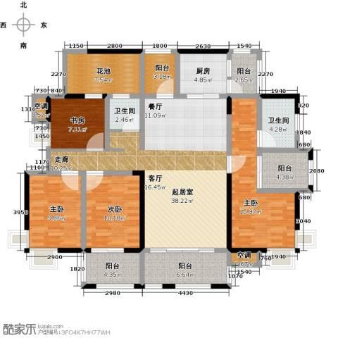 华盛・世纪新城4室0厅2卫1厨180.00㎡户型图