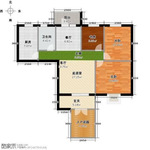 永辉 巴黎3室0厅1卫1厨117.00㎡户型图