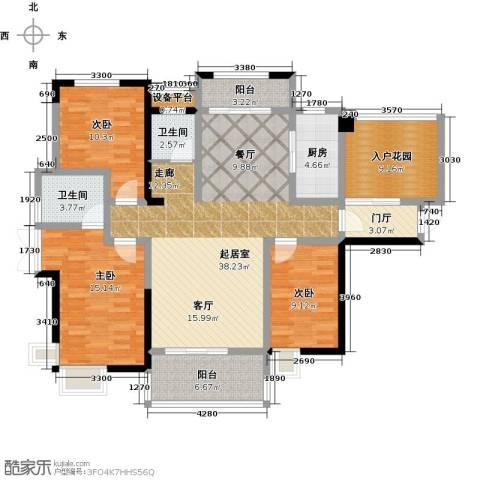 华盛・世纪新城3室0厅2卫1厨156.00㎡户型图