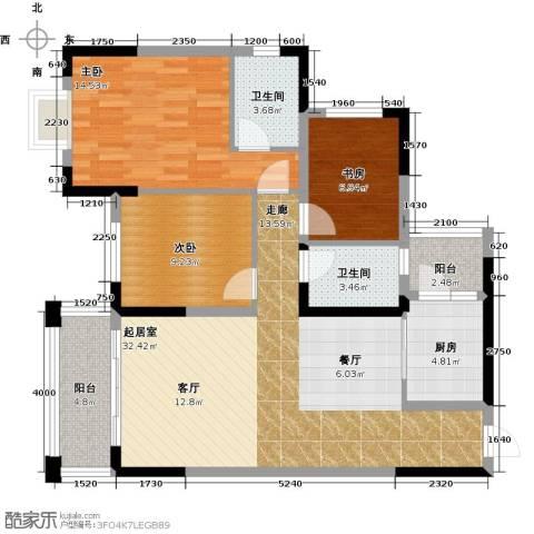 广大上城3室0厅2卫1厨103.00㎡户型图