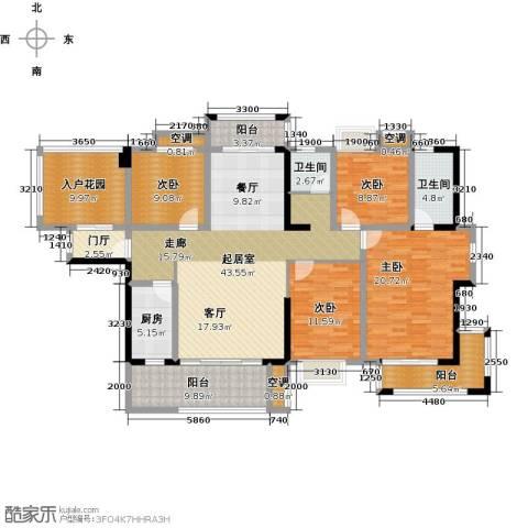 华盛・世纪新城4室0厅2卫1厨164.00㎡户型图